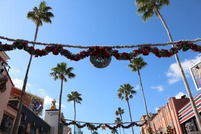 この日はまずハリウッドスタジオへ。<br />クリスマスイルミネーションは控えめでした。