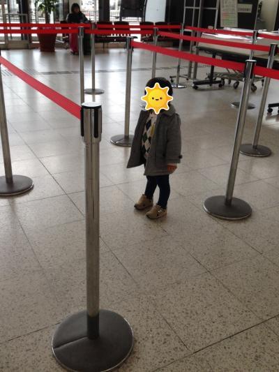 大阪国際空港<br />息子たち初の長距離旅