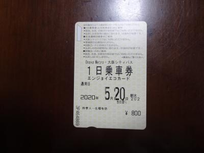 1日乗車券「800円」で周りました。