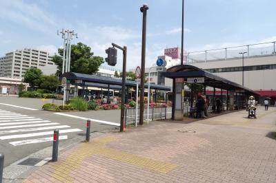 JR港南台駅前には丸屋根のバス停。