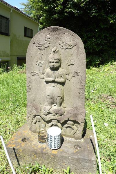 東樹院奥の庚申塔(享保14年12月(1730年1月19日以降)銘)。