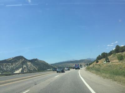国道160号線で西からデュランゴに入り走ります。