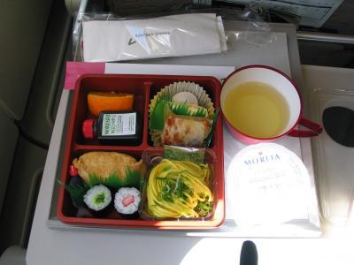 機内食です。短距離路線ですのでショボいですが、かなり日本食を意識していますね。<br />仁川からはリムジンバスに乗ってソウル駅まで行き、あとは歩いて明洞にあるホテルまで行きました。<br />