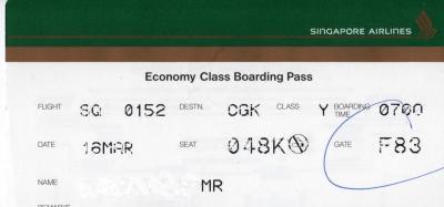 SQ Boarding Pass