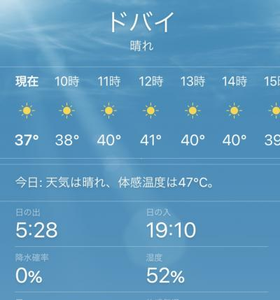 6月のドバイ。気温40度。暑い・・・<br />湿度は低いけれど、いつも働いていない毛穴から汗が出ます。<br />長時間歩けません・・・<br />