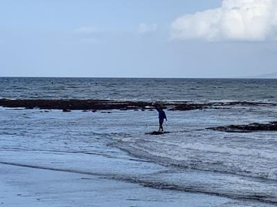 釣りー。天気はあまり良くないです。