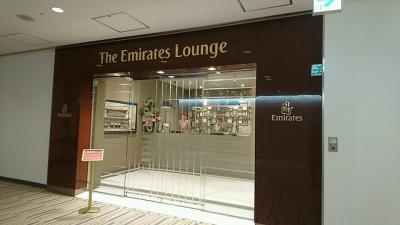 今回はドバイ経由でベルギーに行きます。<br />ということで、成田空港にあるエミレーツラウンジへ。