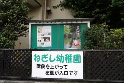 「ねぎし幼稚園」の看板。