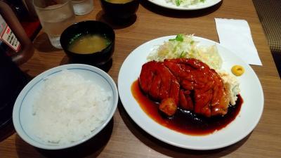JR利用で大阪駅、ホワイティ梅田の大阪トンテキでランチ、安くて美味❗️