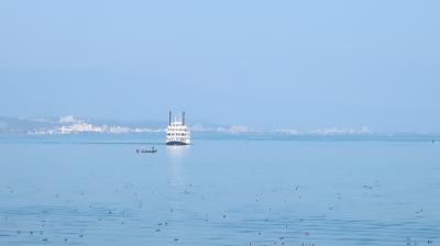 琵琶湖で小休憩
