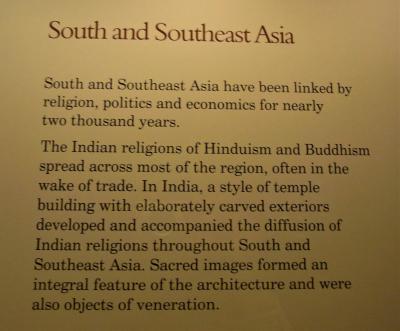 インドから、南アジアと東南アジアにヒンズー教と仏教は拡散していった。<br />