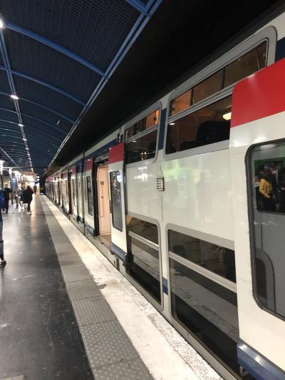 朝パリ市内からRERのA線で終点のデズニーランド駅へ。車内でリール往復切符(20ユーロ)をスマホで購入。