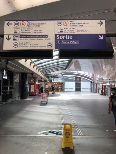 終点の Marne-la-Vallée Chessy駅 に着きました。