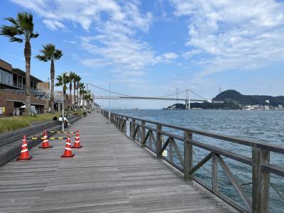 関門海峡が見えました