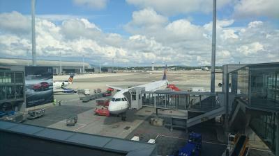 OSLに到着しました。FRAから2時間ちょっとのフライトです。
