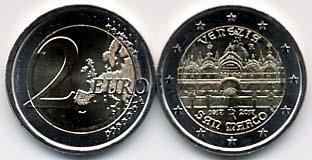 上のコマのサンマルコ寺院を意匠にした、記念硬貨です。<br />