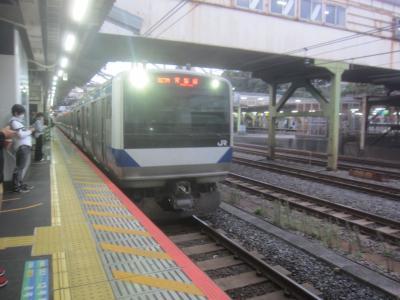 06時34分発の常磐線勝田行で出発しましたが