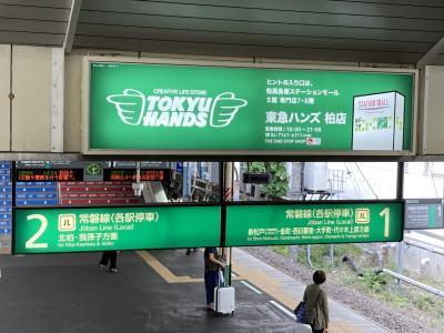 茨城県から千葉県に入ってきました。<br />この日の午前中のスケジュールは、大幅にディレイしていたので、電車に乗りながら、この後のスケジュールをYahoo!乗換案内のアプリでにらめっこです。<br />今となっては実はどこでどう乗り換えたのか、写真でしかわかりませんが、柏駅で乗り換えたようです。<br /><br />実は、おみやげスポットの成田空港に立ち寄るかどうするか、ここで結構悩みましたが、成田空港をとってしまうと、この次の日で関東地方のおみやげスポットをコンプリートしてしまい、最初の地区コンプが関東というのもなぁ・・・ということで、わざと成田空港をスキップしましたが・・・これは今大後悔中。<br />成田にまたわざわざ取りに行くのもなぁ・・・。<br />海外に行けるようになったら、成田空港も使うのでそれまでお預け???