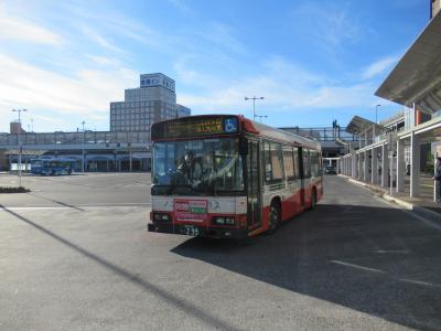 07:32 関越交通 前橋駅バス停発。<br />群大附属小のぼく達・わたし達で満員でした。