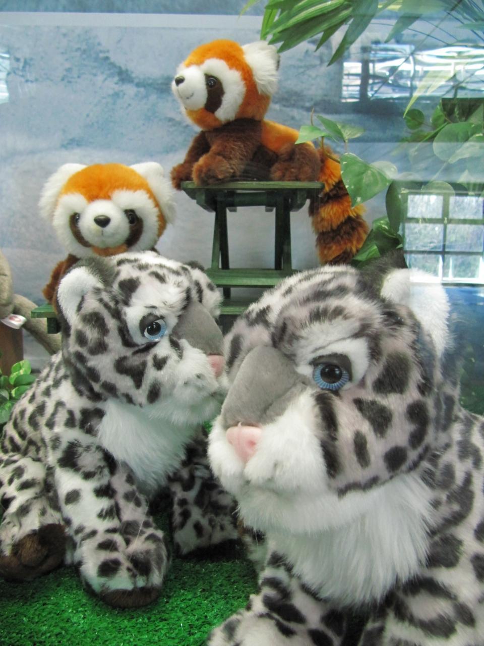 多摩動物公園駅にディスプレイされていたぬいぐるみたち・その2\u003cbr