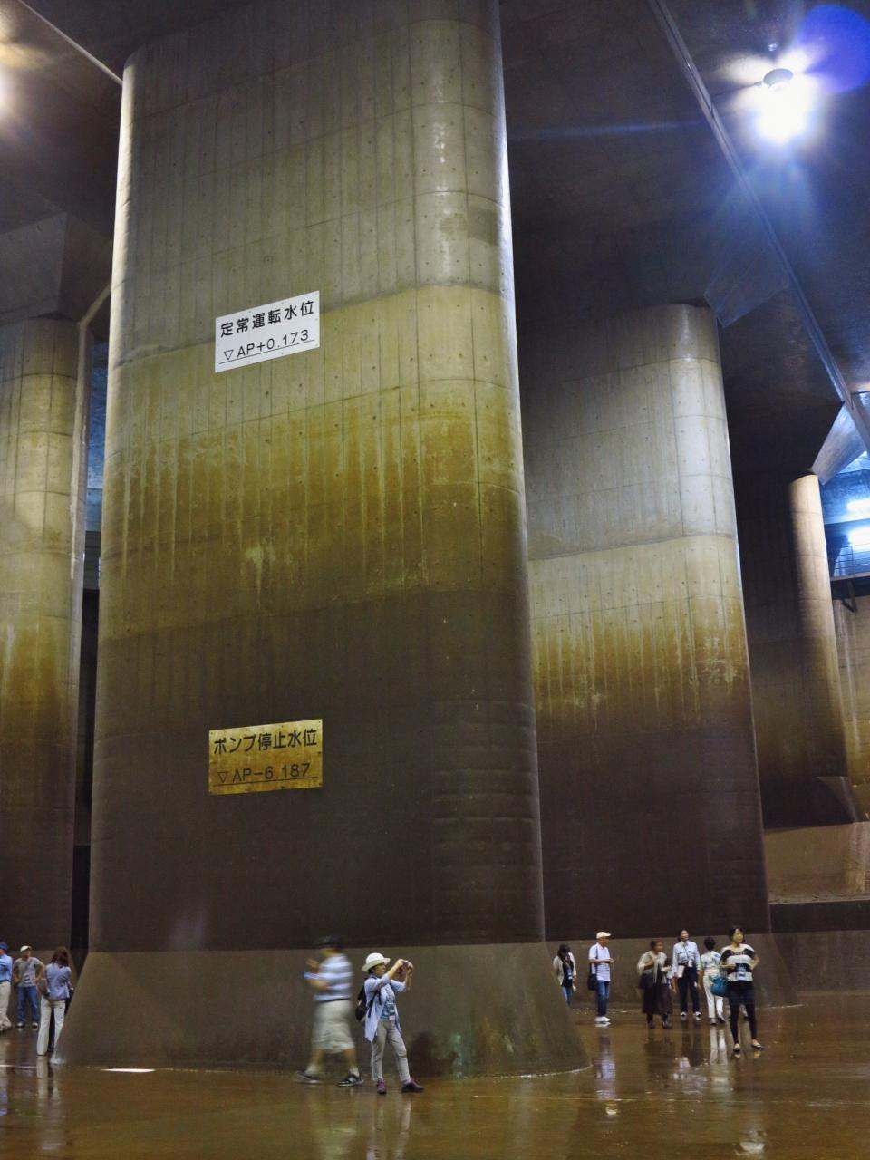 首都圏外郭放水路 調圧水槽; 柱59・林立の巨大空間 ☆地底に神殿?