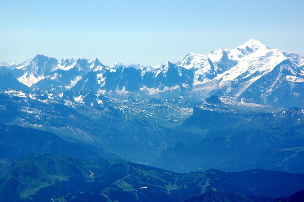 2008年夏 空から眺めたスイス・アルプス