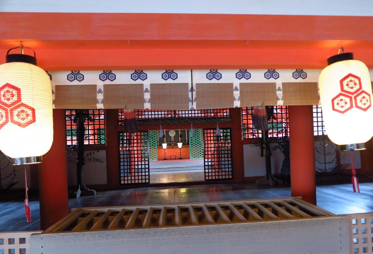 宮島-9 厳島神社b 本殿/拝殿 ひとり参拝 ☆夕方は閑散として