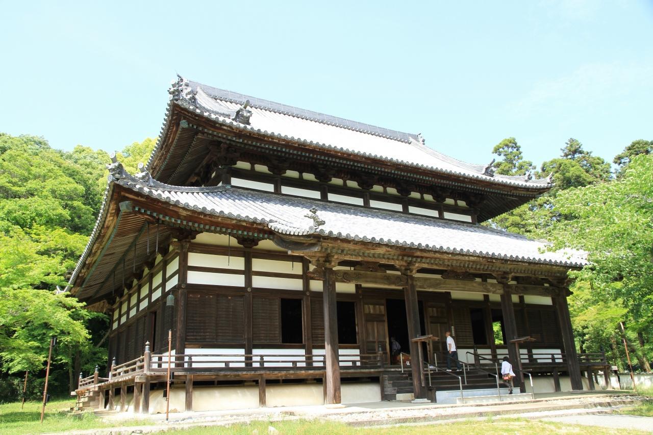 新義真言宗総本山の根来寺を参拝してから、緑化センターのバラを観賞しました。