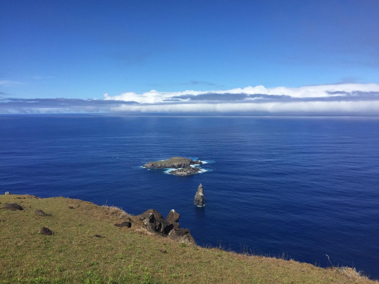 イースター島は海が綺麗です。\u003cbr /\u003e特有の海臭