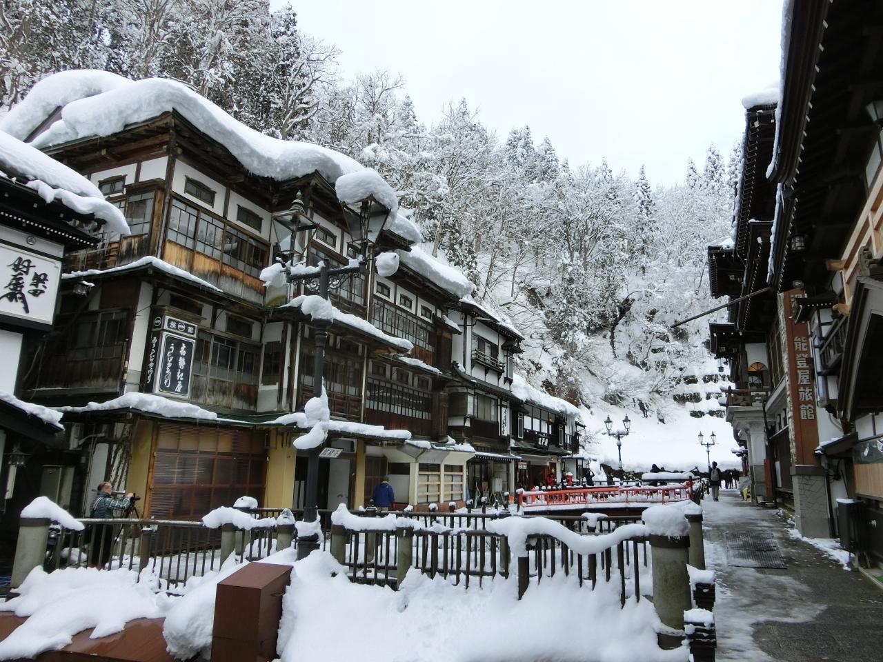 『2018冬 とれいゆつばさで行く、雪の銀山温泉と山寺の旅』銀山 ...