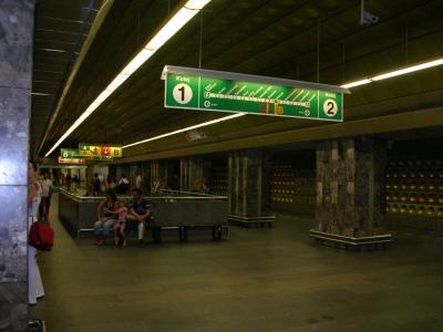 プラハのメトロ(地下鉄)の検札、来ましたー
