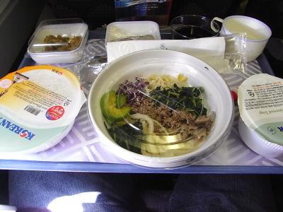 大韓航空の機内食!