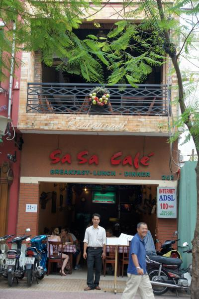 デタム通りののんびり出来そうかな? Sa Sa Cafe