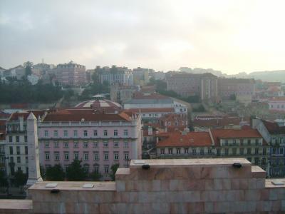 朝食の屋上からの眺め・・・消臭力のCMの景色