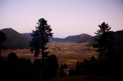 フォブジカの谷を一望できます