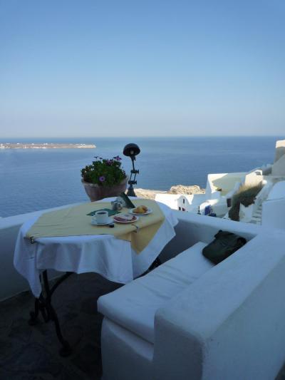 ただ、この眺めの中の朝食は最高でした☆