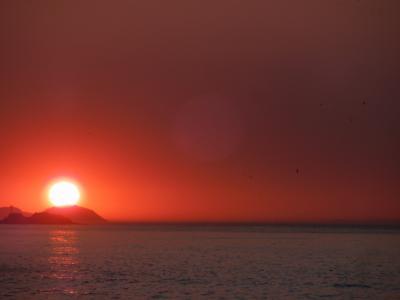 日の出。6時ごろ。本当に美しい!
