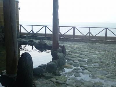 海を眺める露天風呂が広い美人の湯
