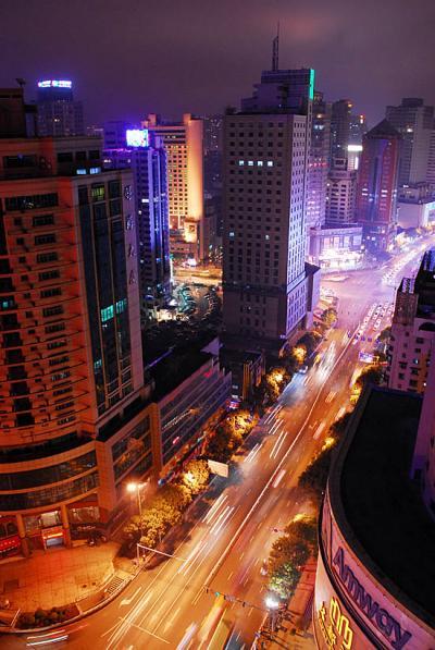 中華北路(南方向)夜景