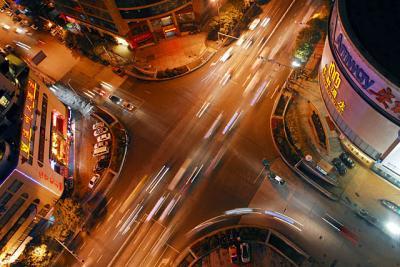 中華北路−黔霊西路夜景