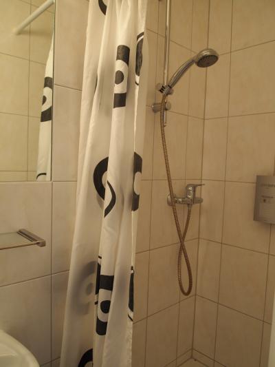 浴室はシャワーのみ。清潔なトイレもあります。