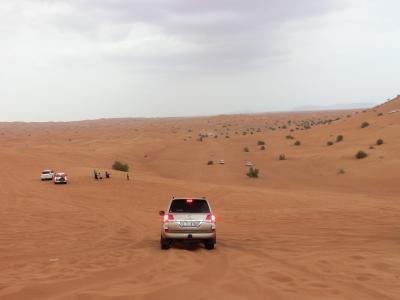 砂漠を駆け抜けます