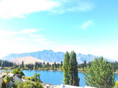 ワカティプ湖が一望