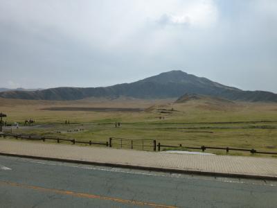 草千里、広々と気持ちの良い景色