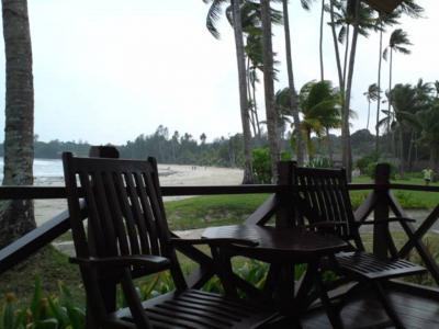 リゾート気分な感じ。 風はとても強かった!