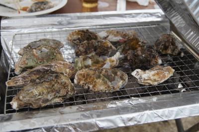 冬季限定!かき小屋の牡蠣の食べ放題!