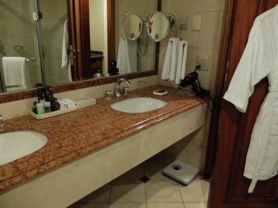 スイートに二つあった浴室のうち、メインの方。