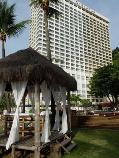 2014年3月下旬は、リノベ中の箇所が目立ったホテル外観。