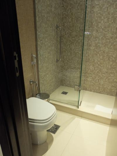 浴室は浴槽が無く狭いのが残念。アメニティは充実していました。