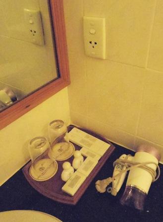 最小限ですが、泡風呂用のバスフォームはあります!